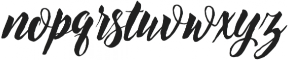 Exoticus otf (400) Font LOWERCASE