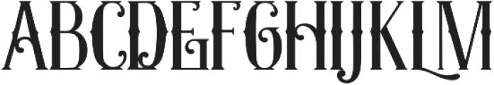 Exposition Regular otf (400) Font UPPERCASE