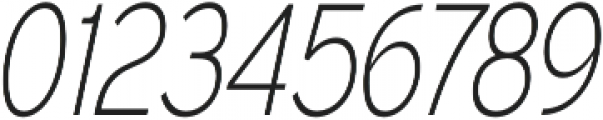 Expressway Condensed ExtraLight Italic otf (200) Font OTHER CHARS