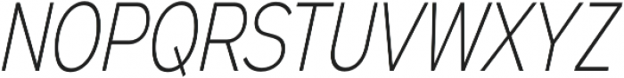 Expressway Condensed ExtraLight Italic otf (200) Font UPPERCASE