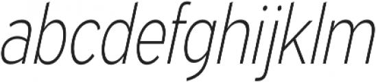 Expressway Condensed ExtraLight Italic otf (200) Font LOWERCASE