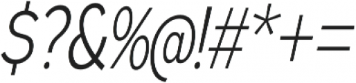 Expressway Condensed Light Italic otf (300) Font OTHER CHARS