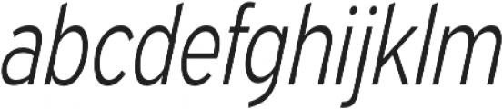 Expressway Condensed Light Italic otf (300) Font LOWERCASE
