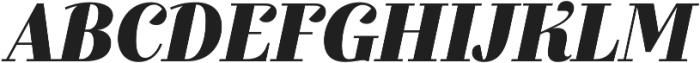 Exquise FY Black Italic otf (900) Font UPPERCASE