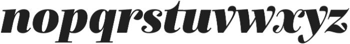 Exquise FY Black Italic otf (900) Font LOWERCASE