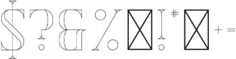 Exquisite AltOutline otf (400) Font OTHER CHARS