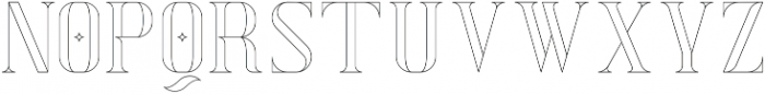 Exquisite AltOutline otf (400) Font UPPERCASE