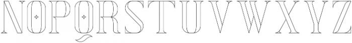 Exquisite AltOutline otf (400) Font LOWERCASE
