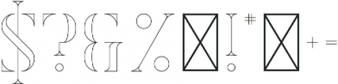 Exquisite Outline otf (400) Font OTHER CHARS