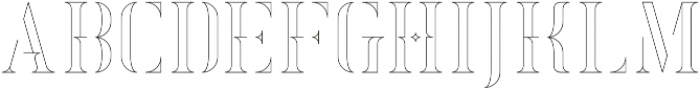 Exquisite Outline otf (400) Font LOWERCASE