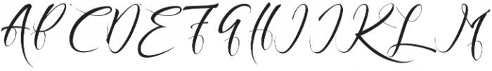 Exquisite otf (400) Font UPPERCASE
