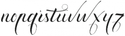 Exquisite otf (400) Font LOWERCASE