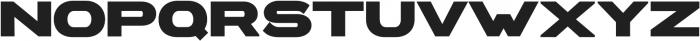 Extendo Sans Extra Bold ttf (700) Font UPPERCASE