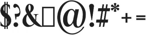 ExtraBold otf (700) Font OTHER CHARS