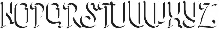 Extrude otf (400) Font UPPERCASE