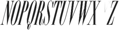 ExuberItalic ttf (400) Font UPPERCASE