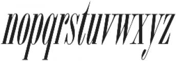 ExuberItalic ttf (400) Font LOWERCASE
