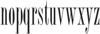 ExuberRoman ttf (400) Font LOWERCASE