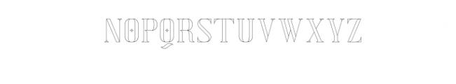 Exquisite-AltOutline.otf Font UPPERCASE