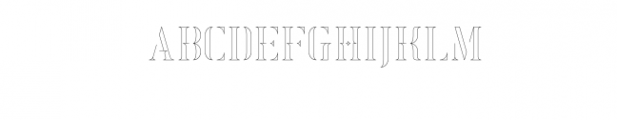 Exquisite-Outline.otf Font LOWERCASE