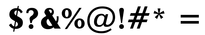 Exotica Bold Font OTHER CHARS