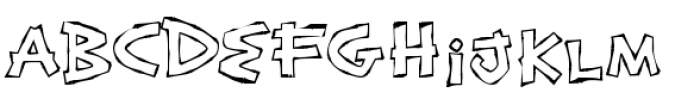 Exotic Island BTN Bamboo Outline Font LOWERCASE