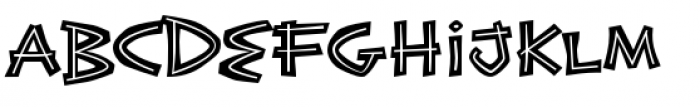 Exotic Island BTN Bold Inline Font UPPERCASE