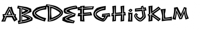 Exotic Island BTN Bold Inline Font LOWERCASE