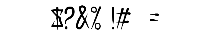 EXTRAKREBEL1987 Italic Font OTHER CHARS