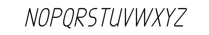 Exacta Bold Italic Font UPPERCASE