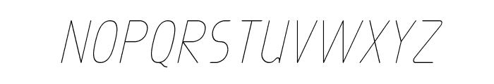 Exacta Light Italic Font UPPERCASE