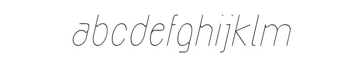 Exacta Light Italic Font LOWERCASE