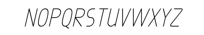 Exacta Medium Italic Font UPPERCASE