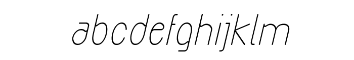Exacta Medium Italic Font LOWERCASE