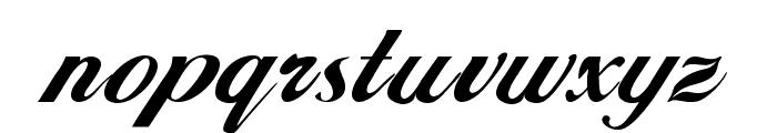 Excalibur Script Font LOWERCASE
