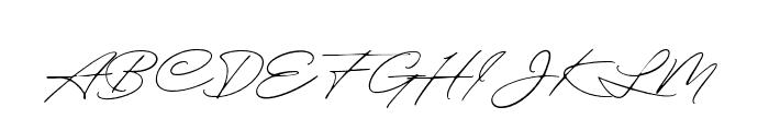 ExcellentSignatureDemo Font UPPERCASE