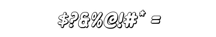Excelsior Comics 3D Italic Font OTHER CHARS