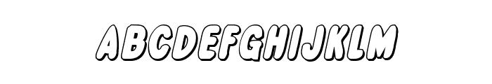 Excelsior Comics 3D Italic Font UPPERCASE