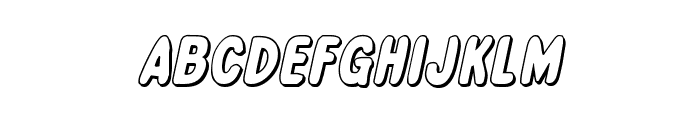 Excelsior Comics 3D Italic Font LOWERCASE