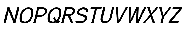 Excite Italic Font UPPERCASE