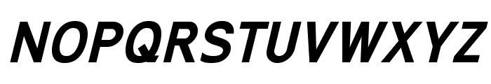 ExciteBoldItalic Font UPPERCASE