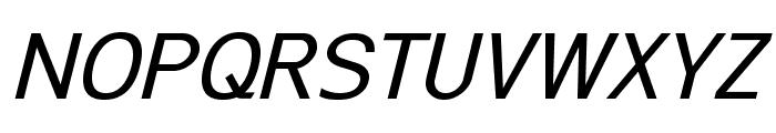 ExciteItalic Font UPPERCASE