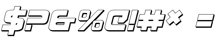 Exedore 3D Italic Font OTHER CHARS