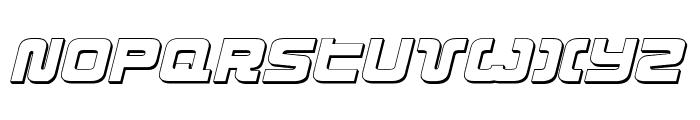 Exedore 3D Italic Font UPPERCASE