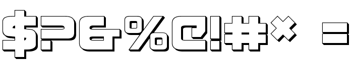 Exedore 3D Font OTHER CHARS