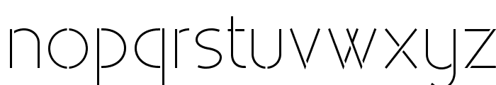 Existence Stencil Light Font LOWERCASE