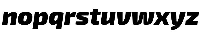 Exo 2 Black Italic Font LOWERCASE
