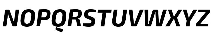 Exo 2 Bold Italic Font UPPERCASE