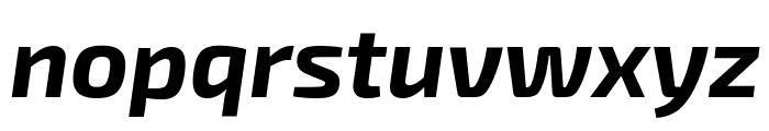 Exo 2 Bold Italic Font LOWERCASE