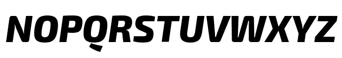Exo 2 Extra Bold Italic Font UPPERCASE